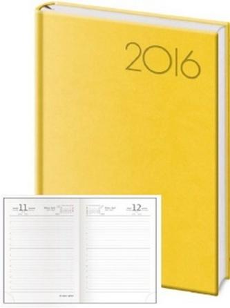 Diář 2016 - Print B6 denní - žlutá