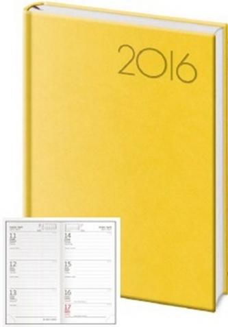 Diář 2016 - Print kapesní týdenní - žlutá