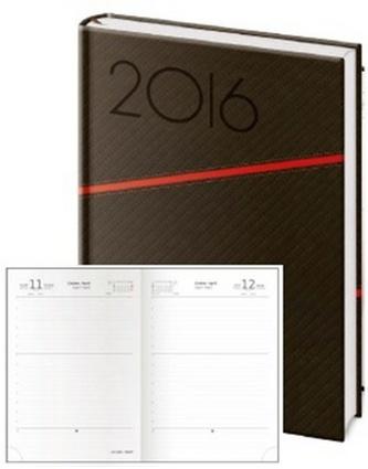 Diář 2016 - Texas A5 denní - černá/červená