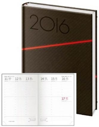 Diář 2016 - Texas A5 týdenní - černá/červená