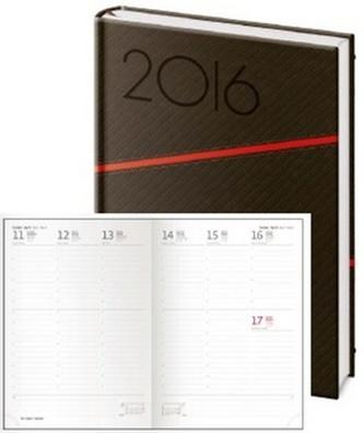 Diář 2016 - Texas B5 týdenní - černá/červená