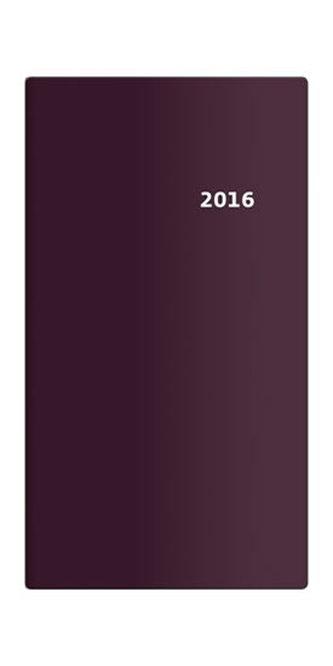 Diář 2016 - Torino čtrnáctidenní kapesní PVC - bordó