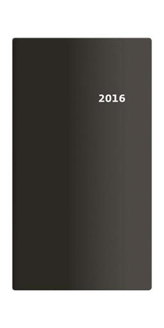 Diář 2016 - Torino čtrnáctidenní kapesní PVC - černá