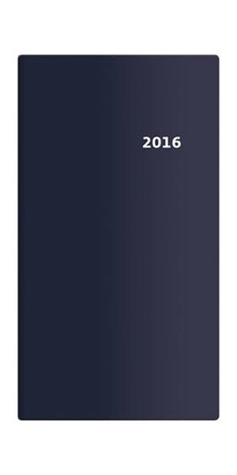 Diář 2016 - Torino čtrnáctidenní kapesní PVC - modrá