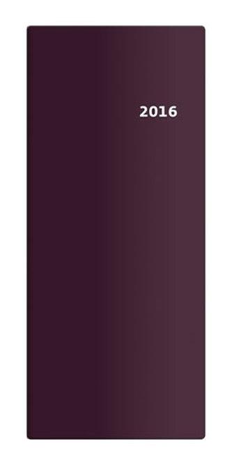 Diář 2016 - Torino měsíční kapesní  PVC - bordó