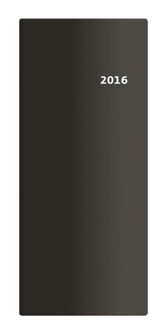 Diář 2016 - Torino měsíční kapesní PVC - černá