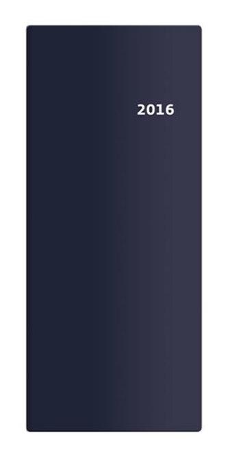 Diář 2016 - Torino měsíční kapesní PVC - modrá