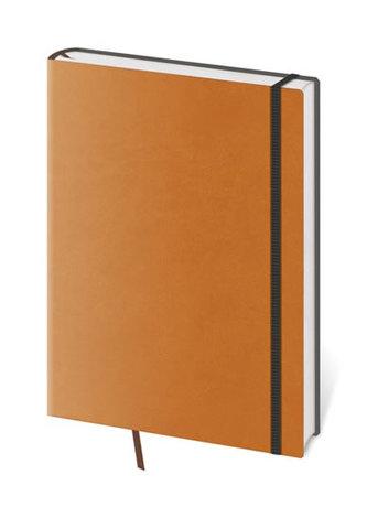 Flexies - linkovaný blok - černá s oranžovou gumičkou