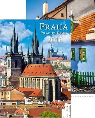 Kalendář nástěnný 2016 - Praha/Prague/Prag