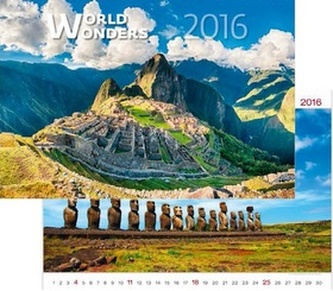 Kalendář nástěnný 2016 - World Wonders