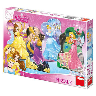 Hravé princezny - puzzle 4x54 dílků