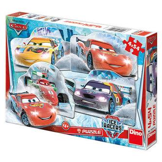 Auta na ledě - puzzle 4x54 dílků