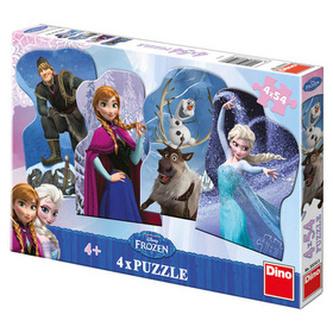 Ledové království - puzzle 4x54x dílků