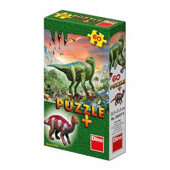 Dinosauři - puzzle 60 dílků + figurka - Dino Toys