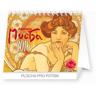 Kalendář 2016 - Alfons Mucha Praktik 16,5 x 13 cm