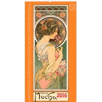 Kalendář 2016 - Alfons Mucha 33 x 64 cm