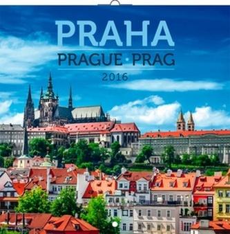 Kalendář 2016 - Praha Jakub Kasl poznámkový 30 x 30 cm