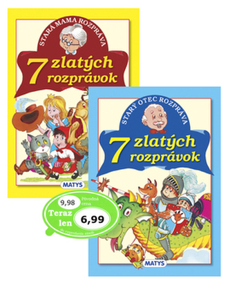Balíček 2 ks Stará mama rozpráva 7 zlatých rozprávok + Starý otec rozpráva 7 zl.