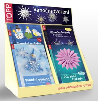 Balíček 5ks Vánoční ozdoby+Vánoč. quilling+Vánoč.hvězdy+Pův. hvězdy+1ks p.stojan