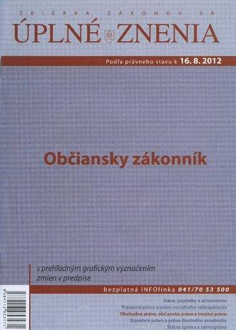 UZZ 2012 Občiansky zákonník