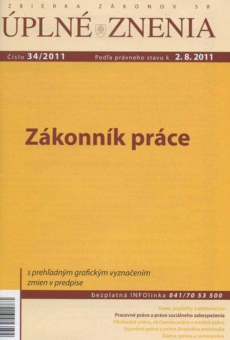 UZZ 34/2011 Zákonník práce
