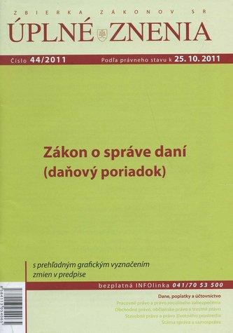 UZZ 44/2011 Zákon o správe daní