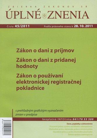 UZZ 45/2011 Zákon o dani z príjmov