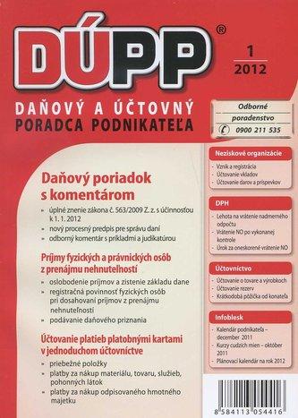 DUPP 1/2012 Daňový poriadok s komentárom