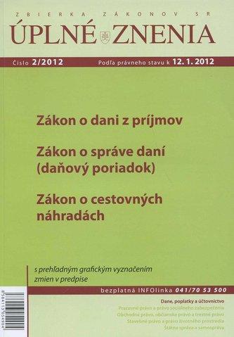UZZ 2/2012 Zákon o dani z príjmov