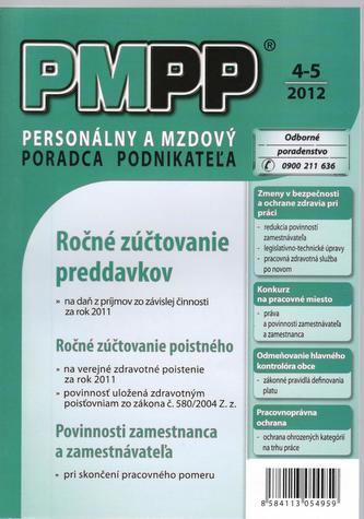 PMPP 4-5/2012 Ročné zúčtovanie preddavkov