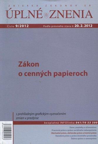 UZZ 9/2012 Zákon o cenných papieroch