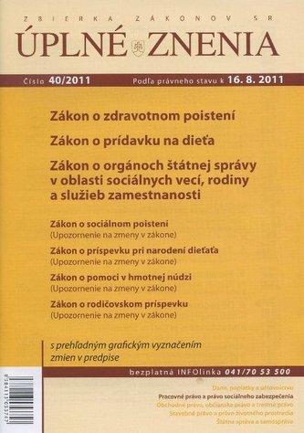 UZZ 40/2011 Zákon o zdravotnom poistení