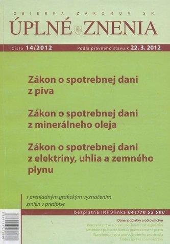 UZZ 14/2012 Zákon o spotrebnej dani z piva