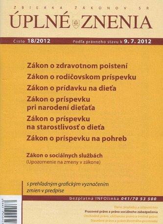 UZZ 18/2012 Zákon o zdravotnom poistení
