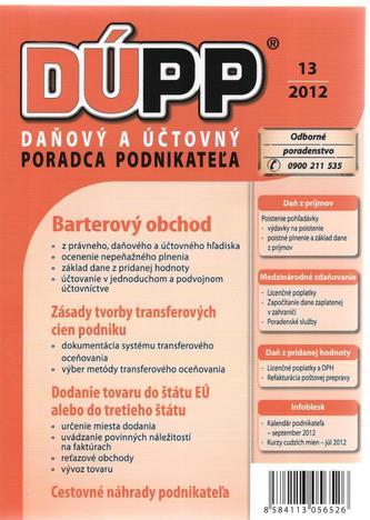 DÚPP 13/2012 Barterový obchod