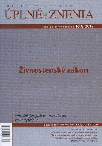 UZZ 2012 Živnostenský zákon