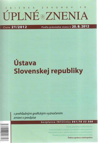 UZZ 21/2012 Ústava Slovenskej republiky