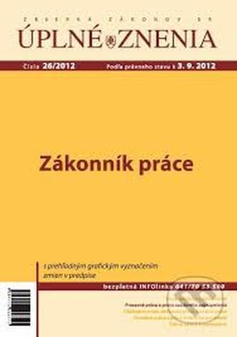 UZZ 26/2012 Zákonník práce