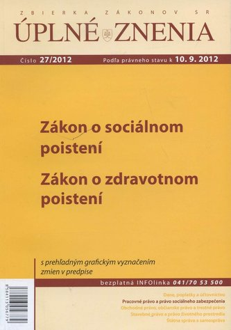 UZZ 27/2012 Zákon o sociálnom poistení