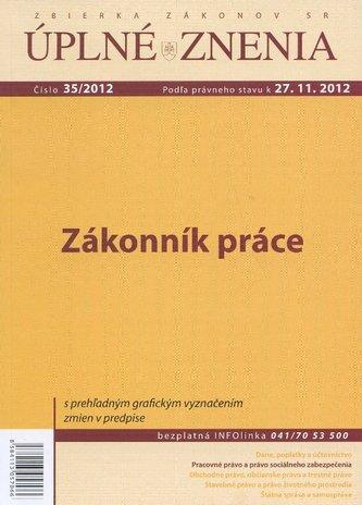 UZZ 35/2012 Zákonník práce