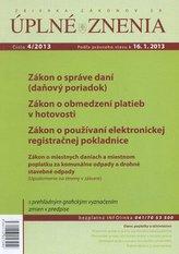 UZZ 4/2013 Zákon o správe daní (daňový poriadok)