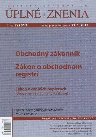 UZZ 7/2013 Obchodný zakonník, Zákon o obchodnom registri