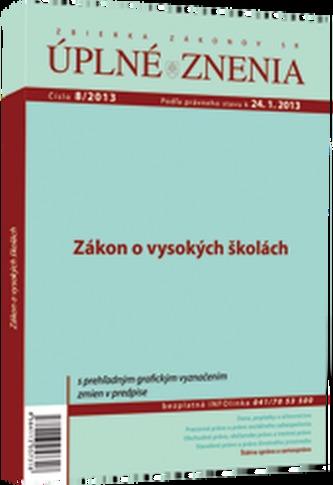 UZZ 8/2013 Zákon o vysokých školách
