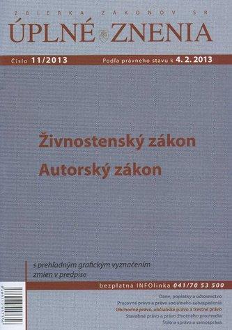 UZZ 11/2013 Živnostenský zákon, Autorský zákon