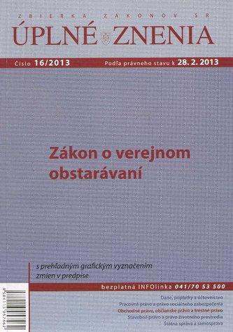 UZZ 16/2013 Zákon o verejnom obstarávaní
