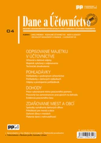 Dane a Účtovníctvo 4/2013