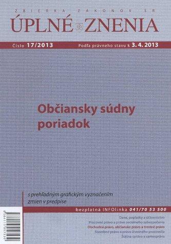 UZZ 17/2013 Občiansky súdny poriadok