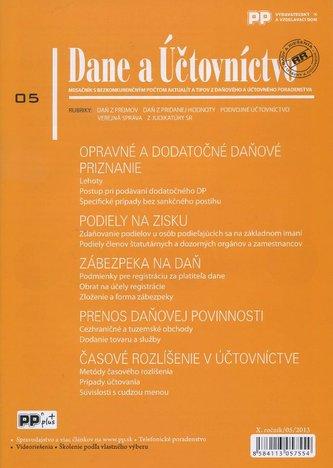 Dane a Účtovníctvo 5/2013