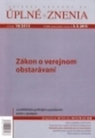UZZ 18/2013 Zákon o verejnom obstarávaní