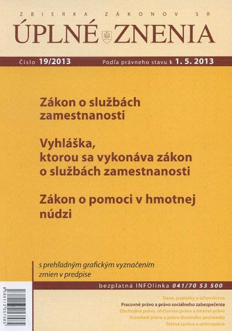 UZZ 19/2013 Zákon o službách zamestnanosti